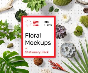 Floral PSD Mockups – sponsored