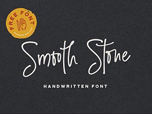 Smooth Stone Free Handwritten Font | GraphicBurger