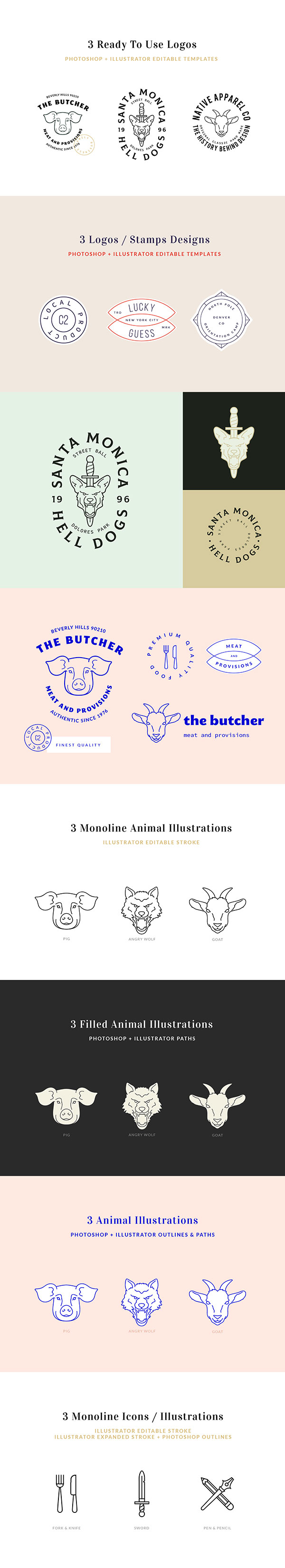 The Logo Kit – Free Sample | GraphicBurger