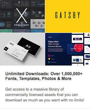 Envato homepage sponsored